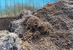 回收机加工产生细小的铁屑